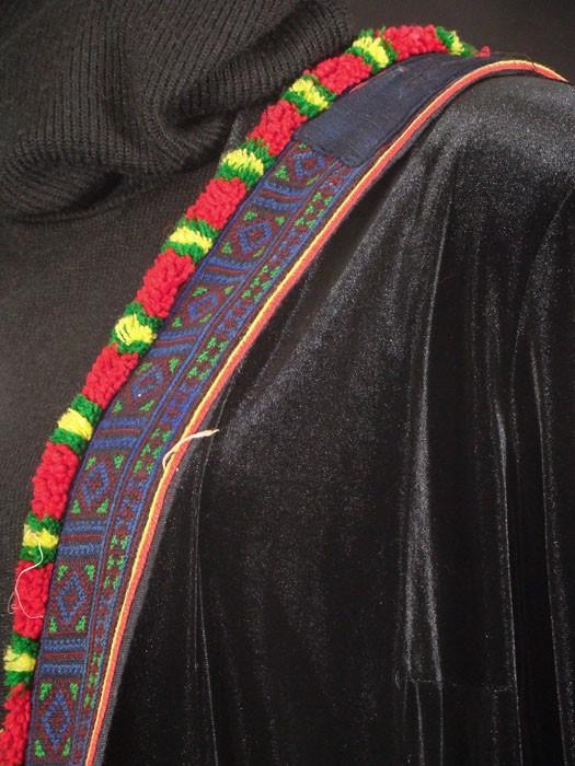 Red Dzao Pompom Shoulder Bag
