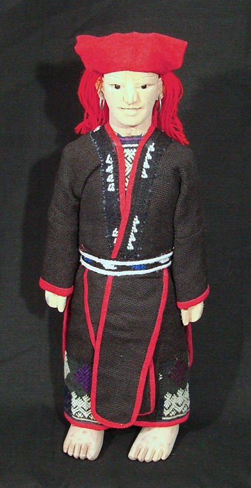 Red Dzao Woman Doll