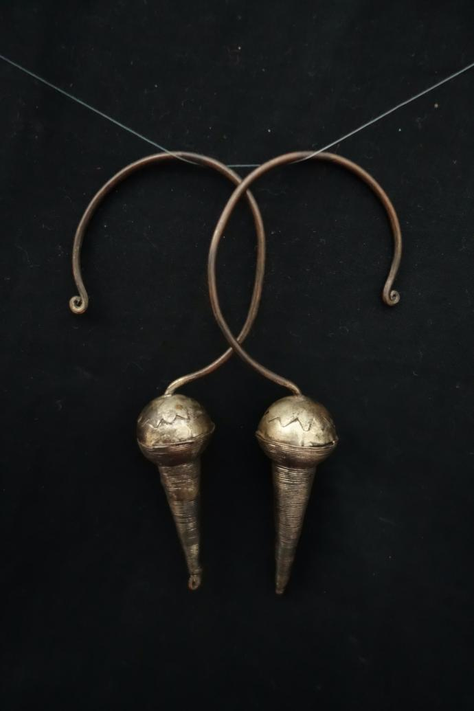 Akha Cone Earrings or Headpiece Ornament