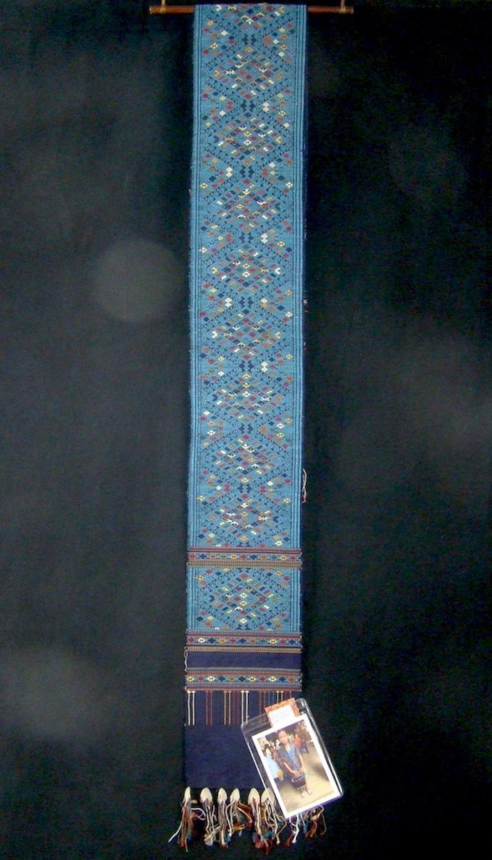 Diamond of Naga on Deep Blue Shoulder Cloth