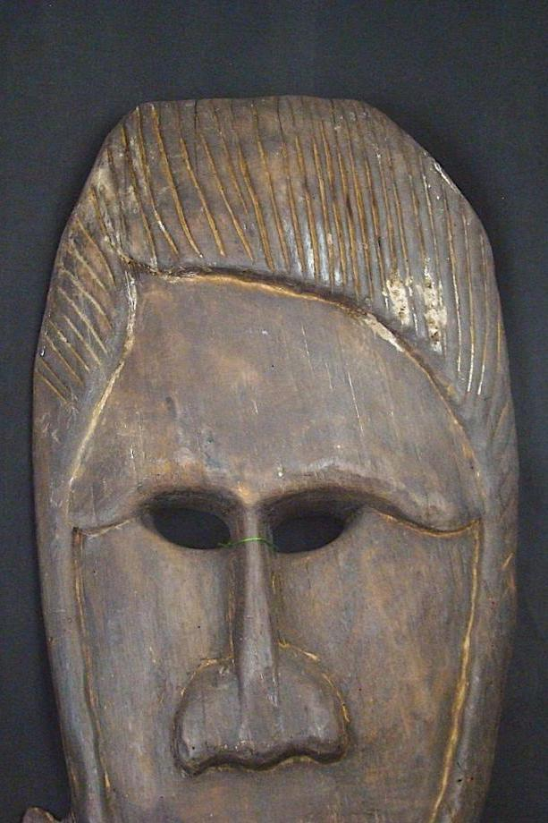 Katu Spirit Mask with Carved Hair
