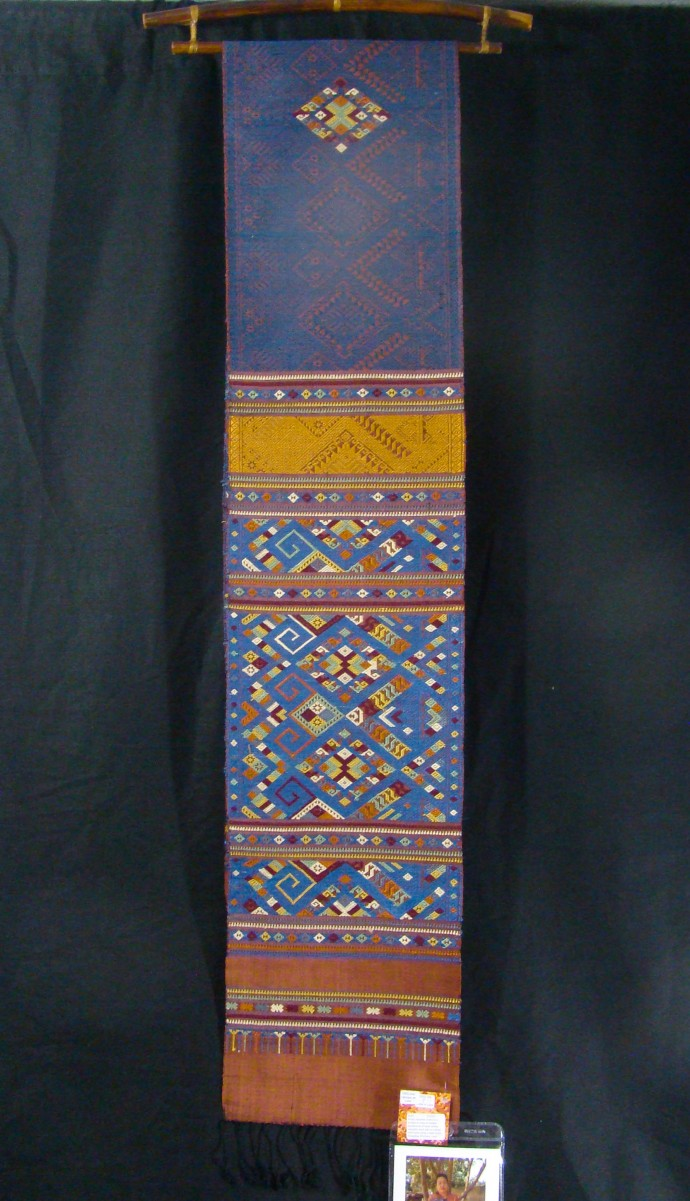 Bright Blue & Orange Naga Cloth