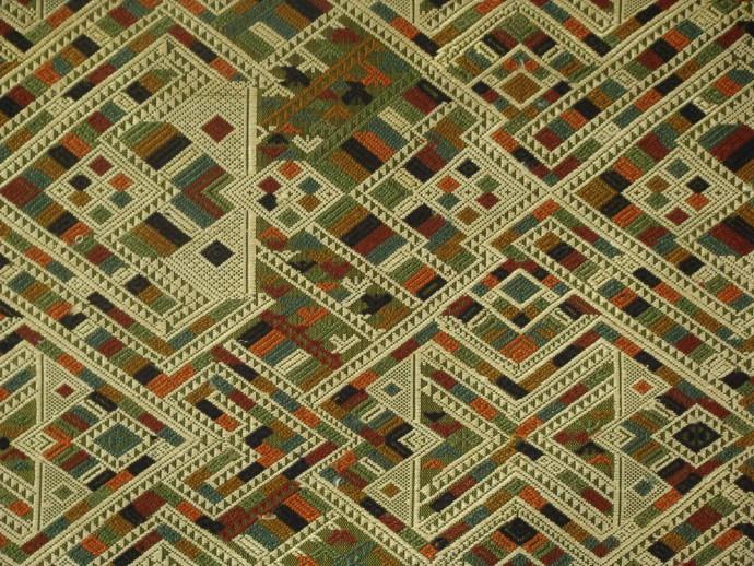 Intricate Green Naga Textile