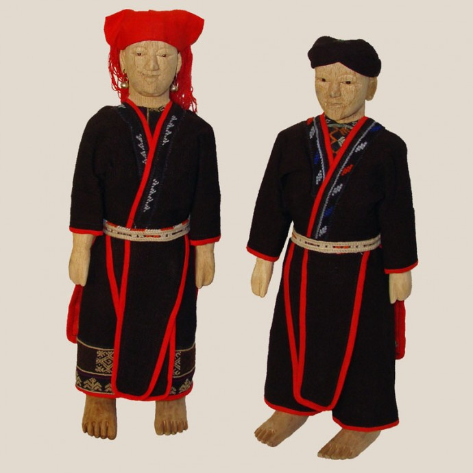 Red Dzao Wedding Dolls