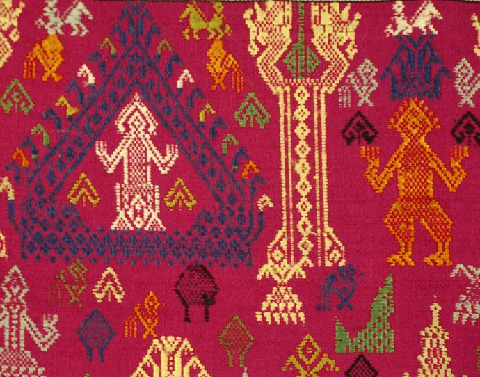 Red Temple Altar Cloth, Hanging, or Shawl