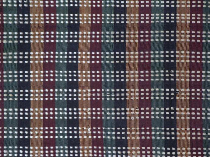 Stripe and Dot Pattern Shawl