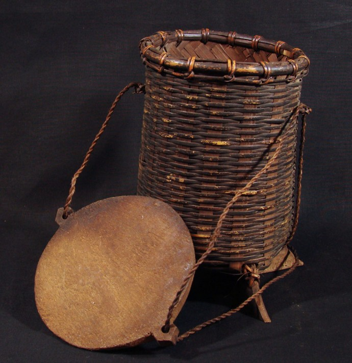 Wood Lidded Sticky Rice Basket